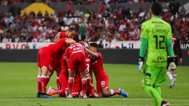 Toluca por la mínima derrota al Atlas en el Jalisco