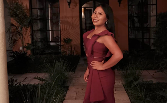 Fotos: Yalitza Aparicio se dejó ver en traje de baño